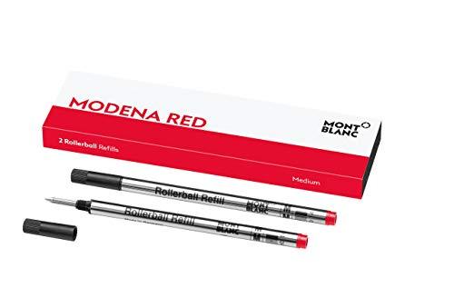 Montblanc Roller Minen Modena Red 124517 – Ersatzmine für Roller Ball und Fineliner Größe M – 2 x Montblanc Refill Rollerball M