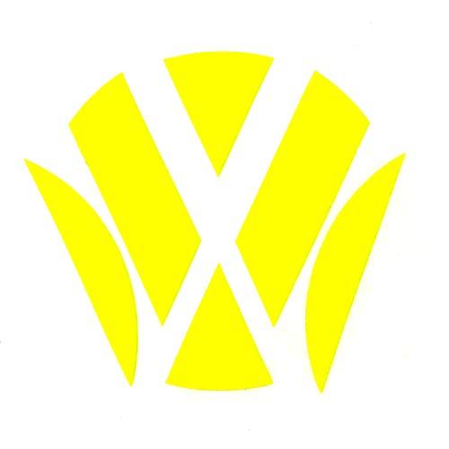 Finest Folia Emblem Ecken Inlays Folie Aufkleber passgenau (K006 Neon Gelb)