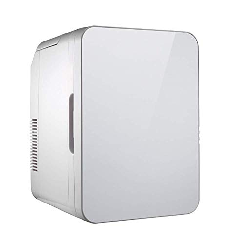 Mini Fridge Cooler Warmer,10 litres Portable Compact Refrigerators,Thermoelectric AC Dc Power,for Bedroom,Office,Dorm,Car Silvery,Silvery