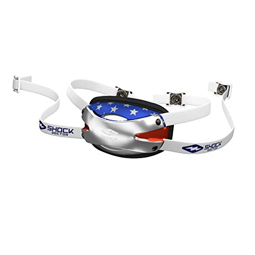 Shock Doctor Chin Strap Football Helmet (US Flag, Youth - One Size Fits All)