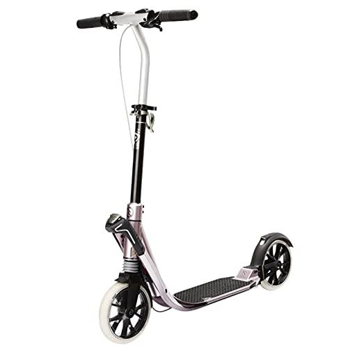 patinetes Scooter Plegable, Diseño De Absorción De Choques Delantero Y Trasero, Deslizante Más Cómodo, Diseño Plegable para Un Fácil Almacenamiento(Color:Rosado)