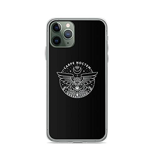 Carpe Noctem White Anti-Scratch Protective Cajas del Teléfono iPhone 12/11 Pro MAX 12 Mini SE X/XS MAX XR 8 7 6 6s Plus Funda