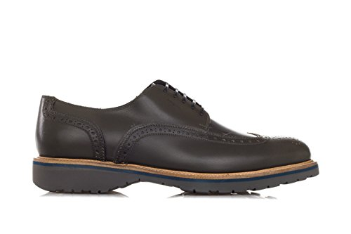 SALVATORE FERRAGAMO Schuhe 'Fuerte' Brogued Leather Derby Shoe-39.5 Uomo Grün
