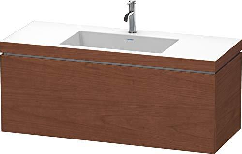 Duravit Duravit Waschtischunterbau L-CUBE mit Waschtisch Vero Air, 500 x 1200 x 480 mm 1 Hahnloch amerikanisch nussbaum