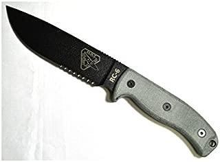 ESEE Minus 6 Serrated Edge Blade with OD Green Sheath, Black