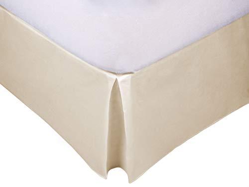 MB - Cubre Canapé Beige para somier - Cama 150x190-50% poliéster 50% algodón - Fácil de Colocar y Lavar