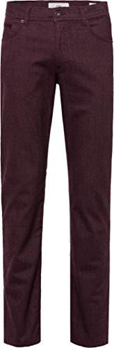 BRAX Herren Style Cooper C Woolook Flex Five Pocket Regular Fit Hose, AUBERGINE, W34/L36(Herstellergröße: 34/36)