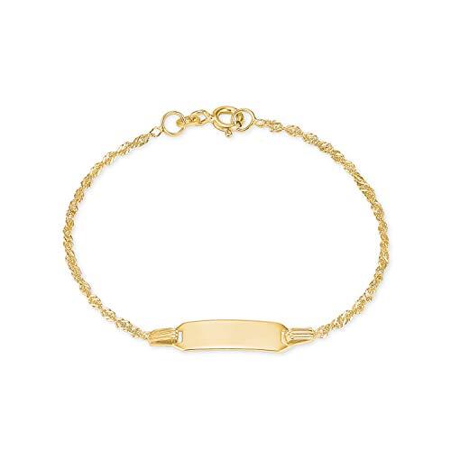 amor Kinder Ident-Armband aus 375er Gold inkl. Wunschgravur
