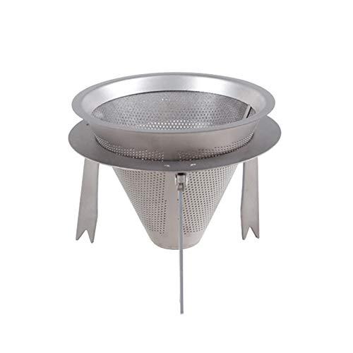 XCCV Titan-Kaffeefilter, wiederverwendbar, papierlos, mit verstellbarem Ständer, zum Übergießen von Kaffee