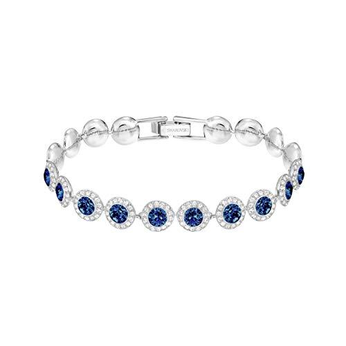 Swarovski Angelic Armband, Blau, Rhodiniert