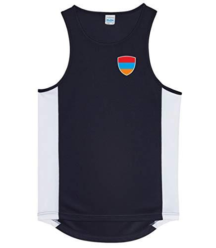 Nation Armenien Trikot Tank Top Athletic Sport Gym ATH BR-SC (XXL)