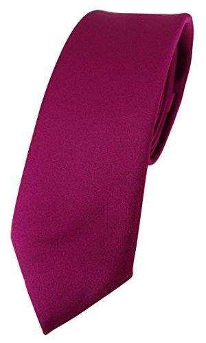 TigerTie Corbata de diseño estrecho en un solo color, ancho de corbata de 5,5 cm., magenta, Talla única