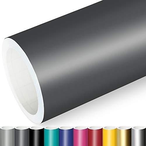 Actinium® Klebefolie 7€/m² Dunkel Grau Matt | 5m x 0,63m selbstklebende matte Folie | Möbelfolie selbstklebend Küchenfolie Plotterfolie