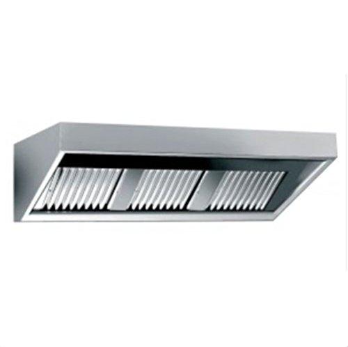Dunstabzugshaube mit Beleuchtung Wandhaube Edelstahl Abzugshaube ohne Motor (B1600 x T700 x H450 mm) Gastro Gastronomie