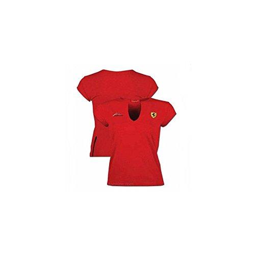 Ferrari Camiseta Mujer Firma Scudetto Rojo