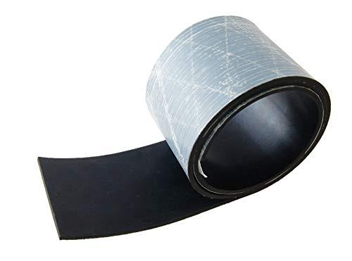 Gummistreifen selbstklebend Stärke 3 mm - NR/SBR viele Größen wählbar 65 Shore einseitige Klebeschicht Klebeband Gummimatte Gummiunterlage Gummi-Matte-Platte Vollgummi Schürfleiste Hartgummi