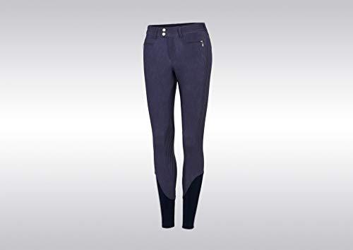 Samshield Damen Reithose Adele, Kniebesatz, mit Glitzerapplikationen, Jeans blau, Größe:40
