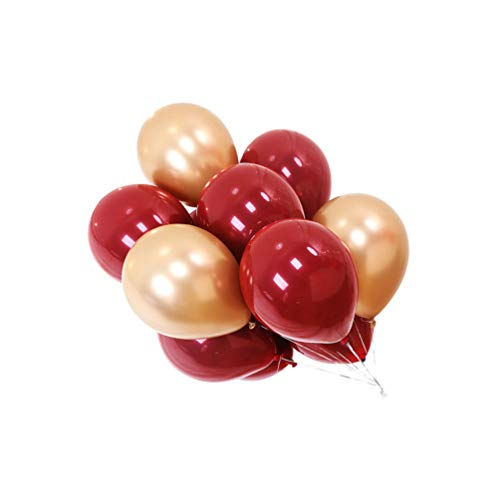 NUOBESTY Gold Balloons Red Latex Balloons Holiday Party Balloons Banner Wedding Balloons Valentines Day Supplies For Photo Props Wedding Baby Shower Party Anniversary 150pcs