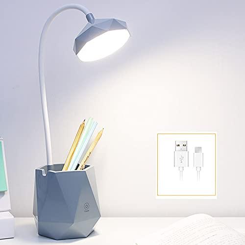 Luz De Noche Dormitorio LED Lámpara para Dormir Faro Protección Ocular para Niños Corazón De Niña Carga USB Luz Suave De Tres Tonos Carga USB Ahorro De Energía (Color : Gray)