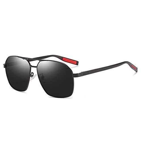 KK Timo Hombres/Mujeres Gafas De Sol Polarizadas Protección UV Deportes Al Aire Libre Viajes Gafas De Sol Costeras Marco Ultra Ligero (Color : Black)