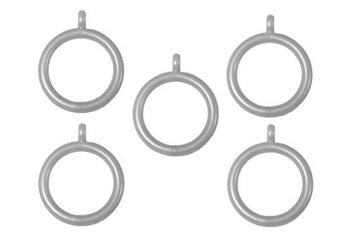 Bulk Hardware BH03269 Kunststof Gordijn Drapery Paal Ringen met Vast Oog, Binnenste Dia. Buitendiameter: 35 mm. 45 mm (1,3/4 inch) - verchroomd, 24 stuks