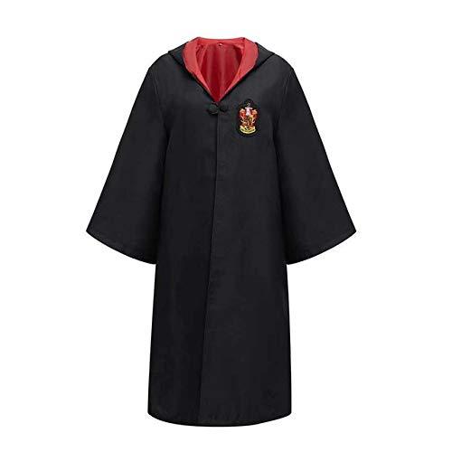 BFBMY Disfraz de Halloween para cosplay de Potter, traje de capa con capucha para disfraz de Potter, ropa de cosplay, accesorios de camisa para niños, unisex (color: como se muestra, tamaño: adulto S)