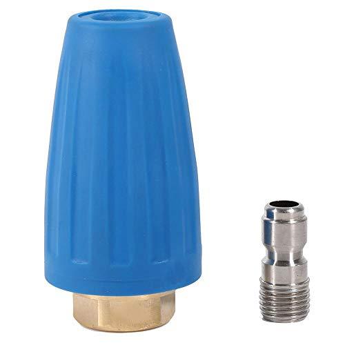 Ftvogue Boquilla giratoria del turbo, 3000 PSI, spray turbo boquilla para limpiador de alta presión, pistola giratoria 1/10 Quick Connect (4.0)