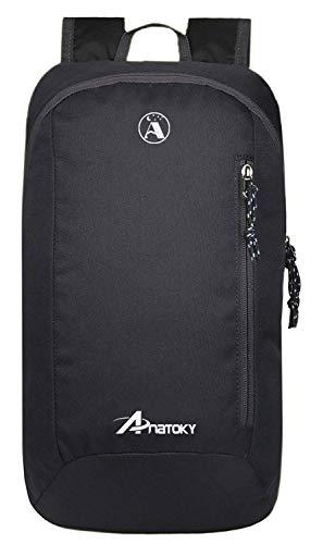 Anatoky Outdoor Small Mini Backpack Daypack Bookbags 10L (Black)