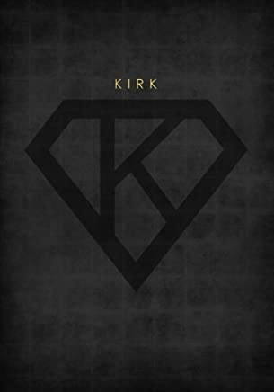 Personalized Name Book for Kirk with Superhero Logo (7x10 Notebook with Lined Pages): An Empowering And Motivational Journal/Composition Book To Write In For Guys