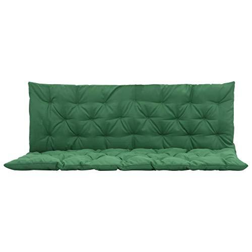 vidaXL Cuscino Verde per Dondolo 150 cm Decorazione Arredamento Giardino Esterno