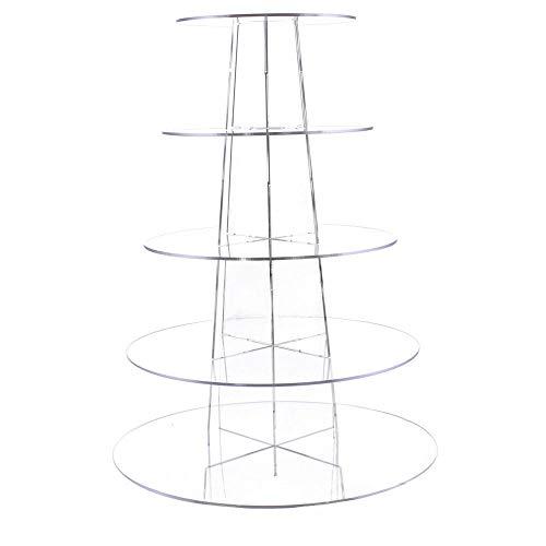 Display4top Support à cupcake en acrylique, pour mariage ou fête d'anniversaire, Acrylique, new 5 Tier Round