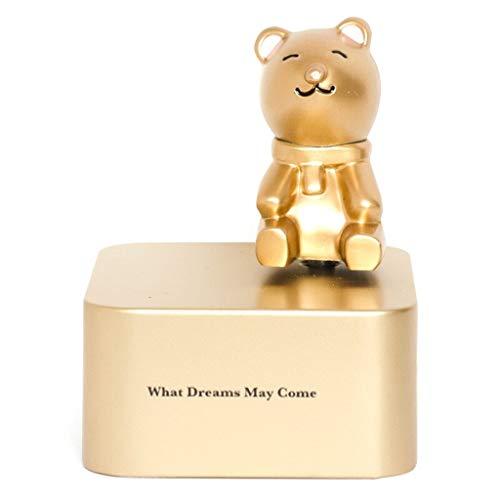 Hong Yi Fei-Shop Caja Musical Caja de música giratoria de aleación Día de San Valentín Cumpleaños Regalo Creativo Regalo de graduación Caja de música for Animales Caja de música (Color : Bear)