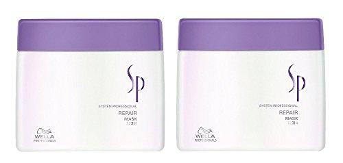 Wella SP Repair Mask 2 x 400 ml strapaziertes Haar System Professional Care Haar-Kur
