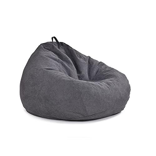 LHQ-HQ Sitzsack Stuhl 90 * 110 cm Ultra Soft Foam Möbel Memory Sofa Robuster Reißverschluss Mehrere Farben Für Kinder Teenager Erwachsene,Schwarz