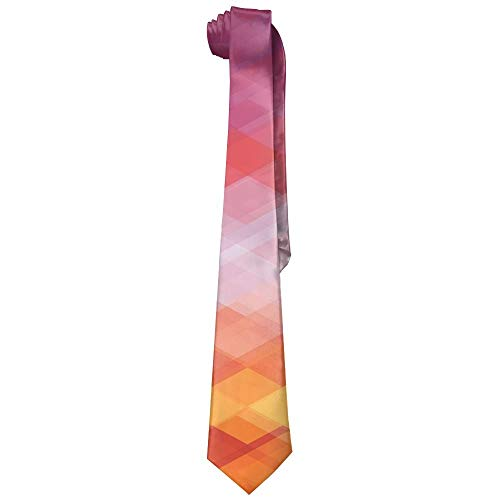 Geometrical Colorful Mens Fashion Silk Ties Unique Gift Neckties