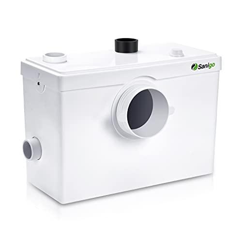 Sanigo SANI600 Broyeur Sanitaire, Pompe Automatique pour Eliminer les Eaux Usées, Silencieuse, 3/1 entrées pour WC lavabo 600W