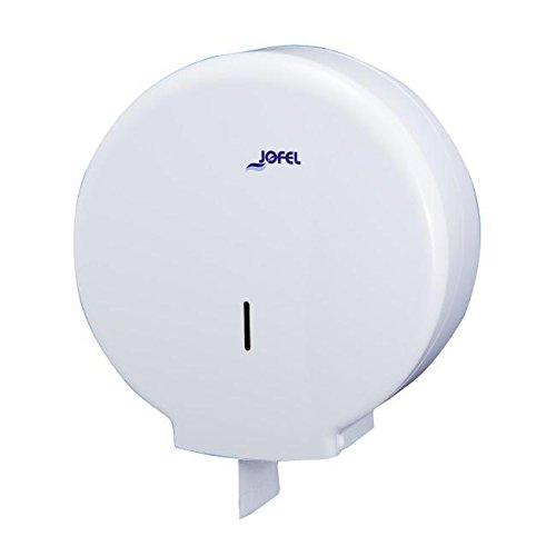 Toilettenpapierhalter Großrollen Jofel ae55000azur groß Toilettenpapierhalter, 400m, Papier 45mm Core, Weiß.