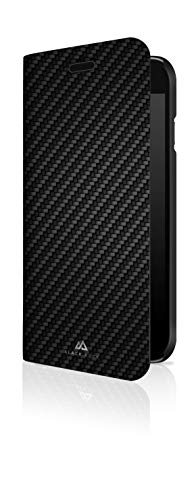 Black Rock - Flex Carbon Booklet Hülle kompatibel mit Apple iPhone 6/6S/7/8/SE (2020) | Handyhülle, Schutzhülle, Silikon, Soft, TPU, Fiber Cover (Schwarz)