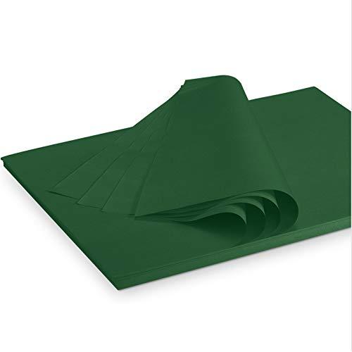 Seidenpapier Packseide farbig Dunkelgrün 35 g/qm 375 x 500 mm VE 2 Kg