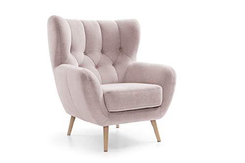 Exxpo Sofa Fashion Lesko/Nordic-Style Sessel, Stoff, rosa