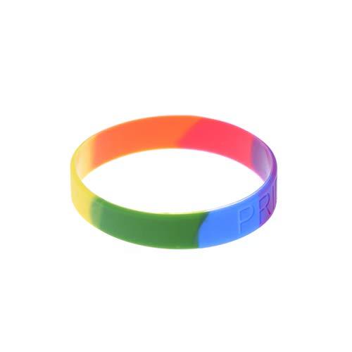 Toyvian 12 Piezas Orgullo Gay Arco Iris Pulsera de Silicona Pulseras de...