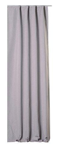 Thermovorhang Kräuselband grau hell Polar Fleece Vorhang Blickdicht elegant meliert Gardine B/H ca. 140x245 cm