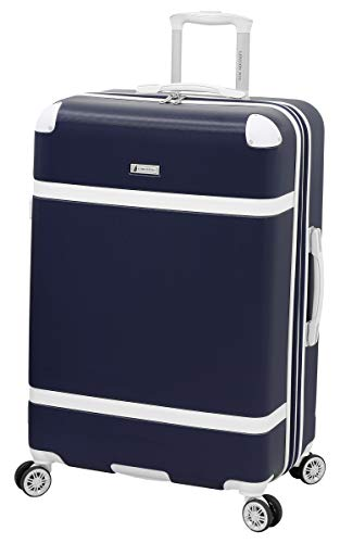 LONDON FOG Vintage Hardside Expandable Spinner Luggage, Midnight Blue, Carry-On 20-Inch