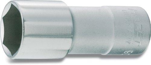 HAZET Douille à Bougies 900AMGT ∙ Carré Creux 12,5 mm (1/2 Pouce) ∙ Profil à 6 pans extérieurs ∙ Taille: 16 5/8 ∙ Longueur : 71 mm, Multicolore