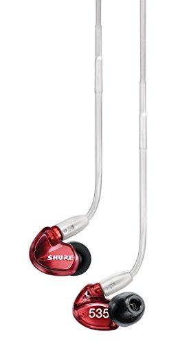 Shure SE535-LTD Auricolari ad Isolamento Sonoro con Triplo MicroDriver ad Alta Definizione, Rosso