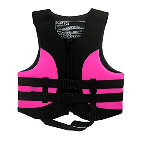 Lgan Chaleco Salvavidas para Adultos, Chaleco De Natación para Niños, Chaleco Flotador Unisexo, para Kayak,Pesca,Surf,Buceo,Deporte Acuático (Size : Pink XXL)