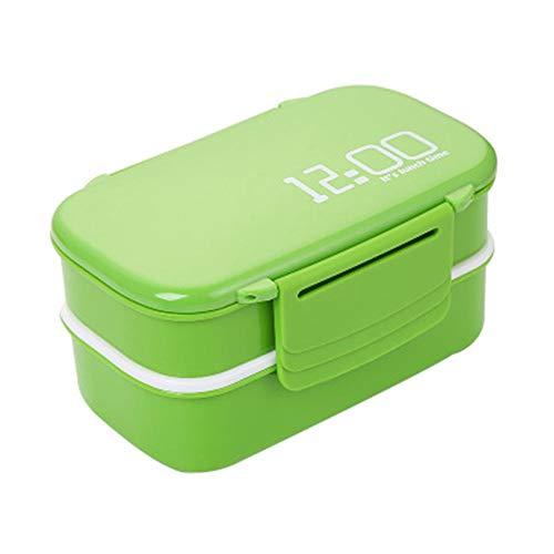 WSY Grande Capacité De Double Couche en Plastique Gamelle Four À Micro-Bento Box Contenant À Lunchbox,A