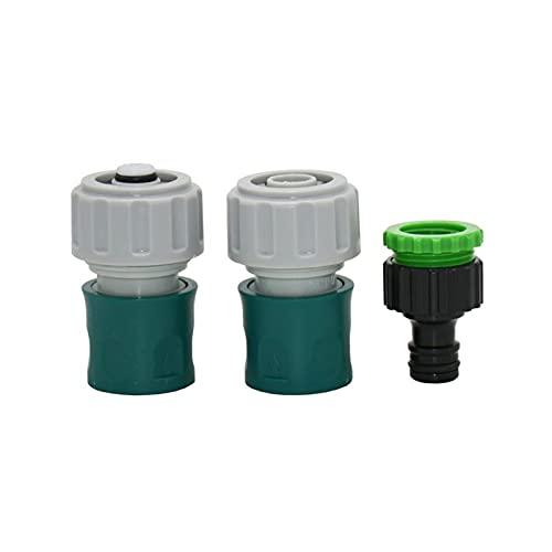 Conectar o reparar las mangueras rápidamente. 3/4'Manguera de jardín Conector de parada de agua Kit de conector rápido 1/2 3/4 Irrigación de riego del goteo Adaptador de pistola de agua 20pcs
