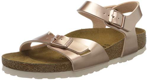 BIRKENSTOCK Damen Chaussures Femmes Sandale, Elektrisches Metallisches Kupfer, 37 EU