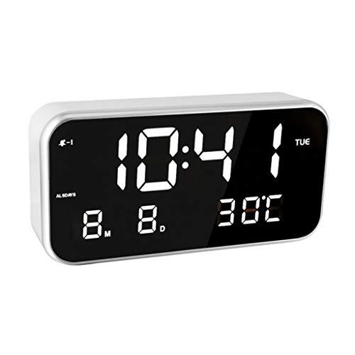 YWSZJ Termometro Elettronico Digitale Multifunzione A LED,Termometro per Sveglia Elettronica di Musica Intelligente